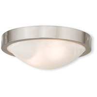 Livex 73951-91 New Brighton 2 Light 12 inch Brushed Nickel Flush Mount Ceiling Light