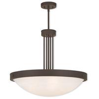 Livex 73965-07 New Brighton 5 Light 24 inch Bronze Pendant Ceiling Light