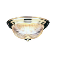 Livex Lighting Signature 2 Light Ceiling Mount in Polished Brass 7413-02