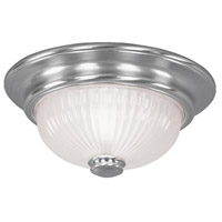 Livex 7417-91 Beacon Hill 2 Light 12 inch Brushed Nickel Ceiling Mount Ceiling Light
