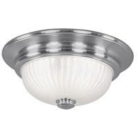 Livex Lighting Beacon Hill 2 Light Ceiling Mount in Brushed Nickel 7418-91