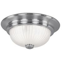 Livex 7418-91 Viper 2 Light 14 inch Brushed Nickel Ceiling Mount Ceiling Light