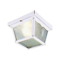 Livex 7501-03 Outdoor Basics 1 Light 7 inch White Outdoor Ceiling Mount in Clear Beveled photo thumbnail