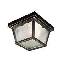 Livex Lighting Outdoor Basics 1 Light Outdoor Ceiling Mount in Black 7501-04