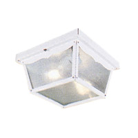 Livex Lighting Outdoor Basics 2 Light Outdoor Ceiling Mount in White 7502-03