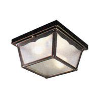 Livex Lighting Outdoor Basics 2 Light Outdoor Ceiling Mount in Black 7502-04