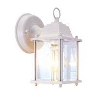 Livex Lighting Outdoor Basics 1 Light Outdoor Wall Lantern in White 7506-03