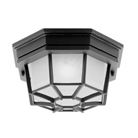 Livex Lighting Outdoor Basics 1 Light Outdoor Ceiling Mount in Black 7508-04 photo thumbnail