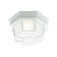 Livex Lighting Outdoor Basics 1 Light Outdoor Ceiling Mount in White 7509-03