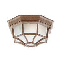 Livex Lighting Outdoor Basics 1 Light Outdoor Ceiling Mount in Weathered Brick 7509-18