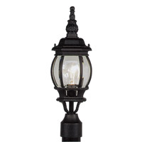Livex 7522-04 Frontenac 1 Light 19 inch Black Outdoor Post Head