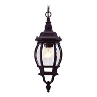 Livex 7523-04 Frontenac 1 Light 7 inch Black Outdoor Hanging Lantern