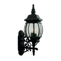 Livex Lighting Frontenac 3 Light Outdoor Wall Lantern in Black 7524-04