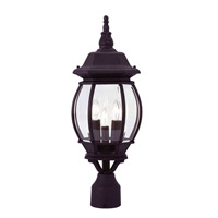 Livex Lighting Frontenac 3 Light Outdoor Post Head in Black 7526-04