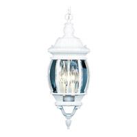 Livex 7527-03 Frontenac 3 Light 9 inch White Outdoor Hanging Lantern