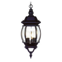 Livex 7527-04 Frontenac 3 Light 9 inch Black Outdoor Hanging Lantern