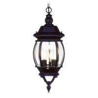 Livex Lighting 7527-04 Frontenac 3 Light 9 inch Black Outdoor Pendant Lantern