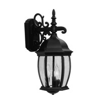 Livex Lighting Kingston 3 Light Outdoor Wall Lantern in Black 7535-04