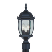 Livex Lighting Kingston 3 Light Outdoor Post Head in Black 7538-04