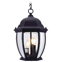 Livex Lighting Kingston 3 Light Outdoor Hanging Lantern in Black 7539-04