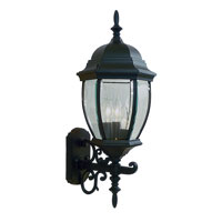Livex Lighting Kingston 3 Light Outdoor Wall Lantern in Black 7541-04