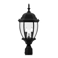 Livex Lighting Kingston 3 Light Outdoor Post Head in Black 7543-04