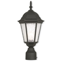 Livex 75464-14 Hamilton 1 Light 8 inch Textured Black Outdoor Post-Top Lantern