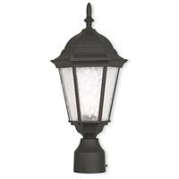 Livex 75464-14 Hamilton 1 Light 8 inch Textured Black Outdoor Post-Top Lantern