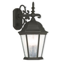 Hamilton 3 Light 19 inch Textured Black Outdoor Wall Lantern