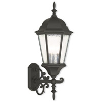 Hamilton 3 Light 24 inch Textured Black Outdoor Wall Lantern