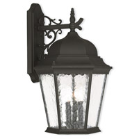 Hamilton 3 Light 23 inch Textured Black Outdoor Wall Lantern