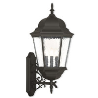 Hamilton 3 Light 30 inch Textured Black Outdoor Wall Lantern