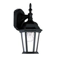 Livex Lighting Hamilton 1 Light Outdoor Wall Lantern in Black 7550-04 photo thumbnail