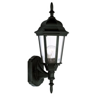 Hamilton 1 Light 16 inch Black Outdoor Wall Lantern in Clear Beveled