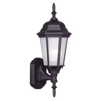 Livex 7551-07 Hamilton 1 Light 16 inch Bronze Outdoor Wall Lantern in Clear Water