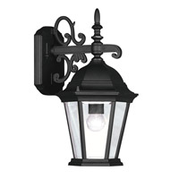 Hamilton 1 Light 15 inch Black Outdoor Wall Lantern in Clear Beveled