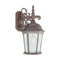 Livex Lighting Hamilton 1 Light Outdoor Wall Lantern in Weathered Brick 7555-18