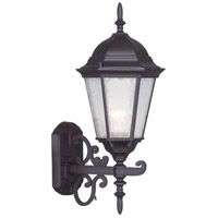 Livex 7556-07 Hamilton 1 Light 20 inch Bronze Outdoor Wall Lantern in Clear Water