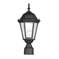 Hamilton 1 Light 18 inch Black Outdoor Post Head in Clear Beveled