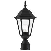 Livex 7558-14 Hamilton 1 Light 18 inch Textured Black Outdoor Post Top Lantern