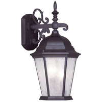 Livex 7560-07 Hamilton 3 Light 19 inch Bronze Outdoor Wall Lantern in Clear Water