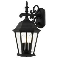 Livex Lighting 7560-14 Hamilton 3 Light 19 inch Textured Black Outdoor Wall Lantern