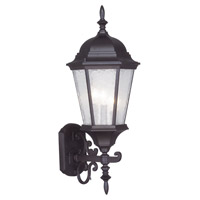 Livex 7561-07 Hamilton 3 Light 24 inch Bronze Outdoor Wall Lantern in Clear Water