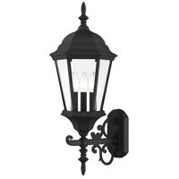 Livex Lighting 7561-14 Hamilton 3 Light 25 inch Textured Black Outdoor Wall Lantern