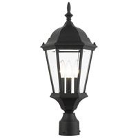Livex 7563-14 Hamilton 3 Light 21 inch Textured Black Outdoor Post Top Lantern
