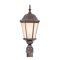Livex Lighting Hamilton 3 Light Outdoor Post Head in Moroccan Gold 7563-50