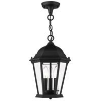Livex Lighting 7564-14 Hamilton 3 Light 10 inch Textured Black Outdoor Pendant Lantern