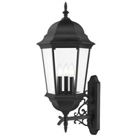 Livex Lighting 7566-14 Hamilton 3 Light 29 inch Textured Black Outdoor Wall Lantern