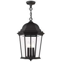 Livex Lighting 7569-14 Hamilton 3 Light 13 inch Textured Black Outdoor Pendant Lantern