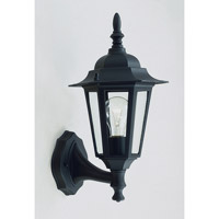Livex Lighting Outdoor Basics 1 Light Outdoor Wall Lantern in Black 7606-04